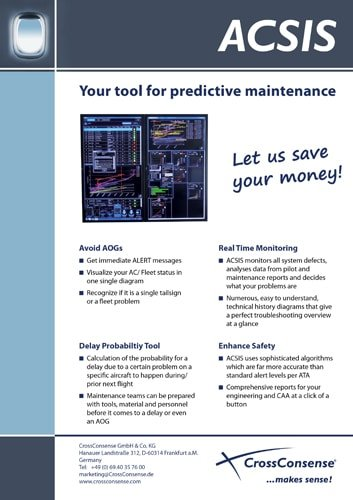 ACSIS – Your tool for predicitive maintenance in the aviation industry.