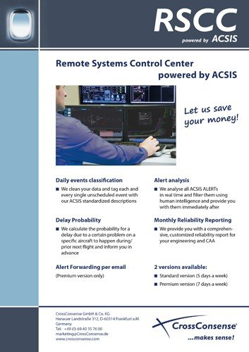 Remote sytems control center powered by ACSIS – Your tool for predicitive maintenance in the aviation industry.