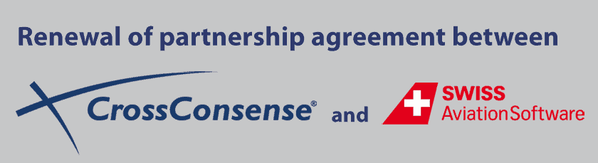 Renewal of partnership agreement between CrossConsense and SWISS AS