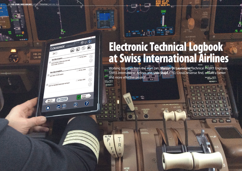 Aircraft IT Case Study – Electronic Technical Logbook at SWISS
