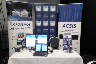 CrossConsense's exhibition booth presenting CROSSMOS and ACSIS