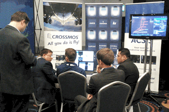 Visitor from different airlines gaining knowledge around CROSSMOS technical logbook